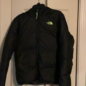 The North Face Boys reversible puffer jacket